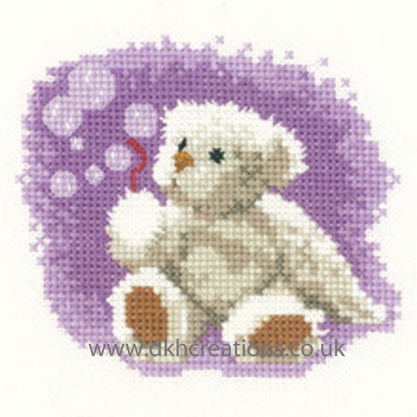 Thread Bear Bubbles Cross Stitch Kit
